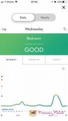 Dyson App 空氣指數紀錄