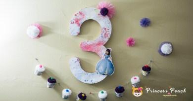 [親子手作] 讓顏料飛起來吧 – 3Y 生日趴手作布置篇~!!