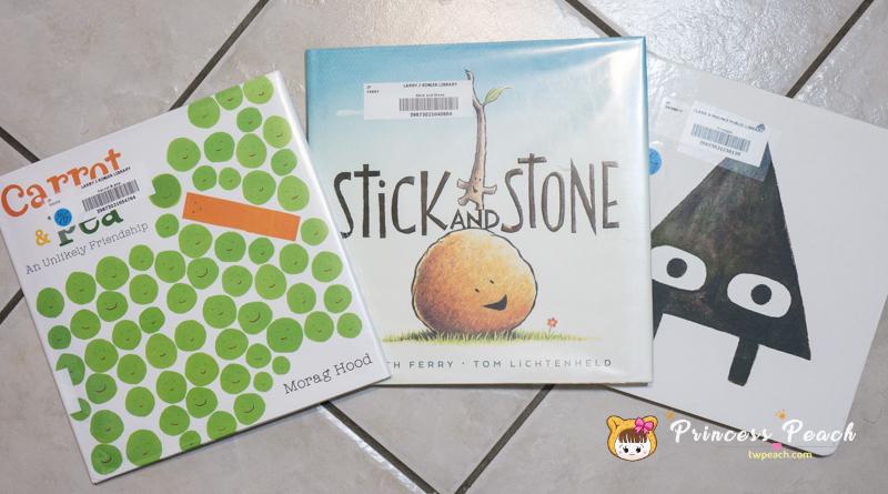 [英文繪本] 2Y 娃的書櫃 – 不一樣的好朋友之形狀友誼繪本 (Carrot & Pea, Stick and Stone, Triangle)~!!