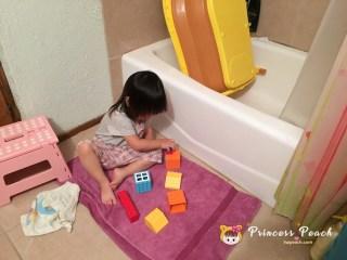 等媽媽洗澡
