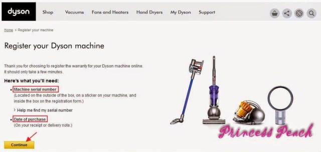 dyson-產品註冊步驟