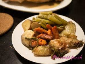 吸收了火雞精華, 多汁的蔬菜內餡