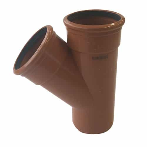 110mm Underground Drainage 45d Double Socket Y Branch