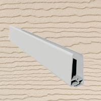 6mt Embossed Cladding 2 Part U-Channel Cream