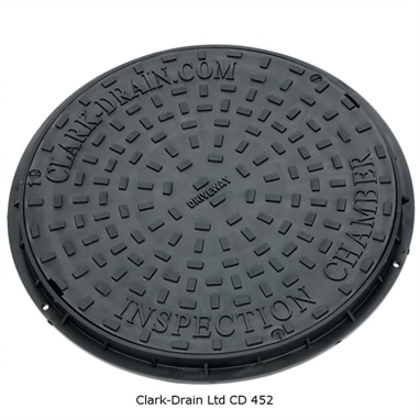 Clarks Clks 452 Round Manhole Drain Cover And Frame 3.5ton