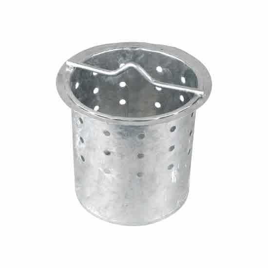 280mm x 300mm Aluminium Perforated Silt Bucket