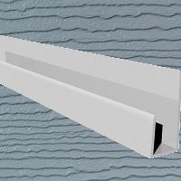 6mt Embossed Cladding U-Channel White Slate Grey