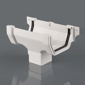 114mm White Square Style Guttering