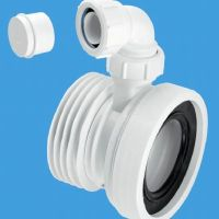 McAlpine Wc-Con1v Pan Connector Bossed Inlet 32mm
