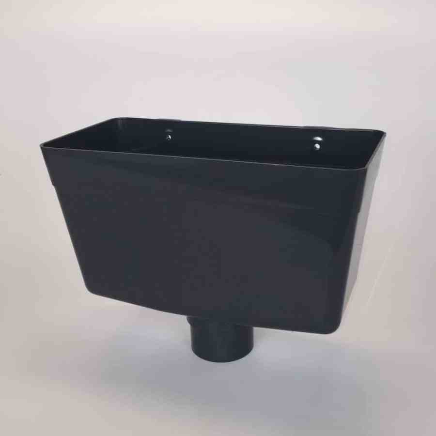 68mm Round Downpipe Hopper Head Anthracite Grey
