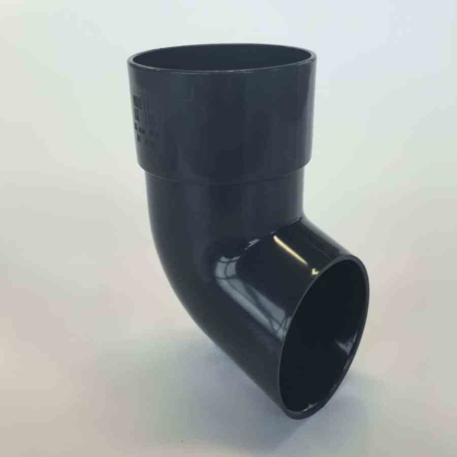 68mm Round Downpipe Shoe Anthracite Grey