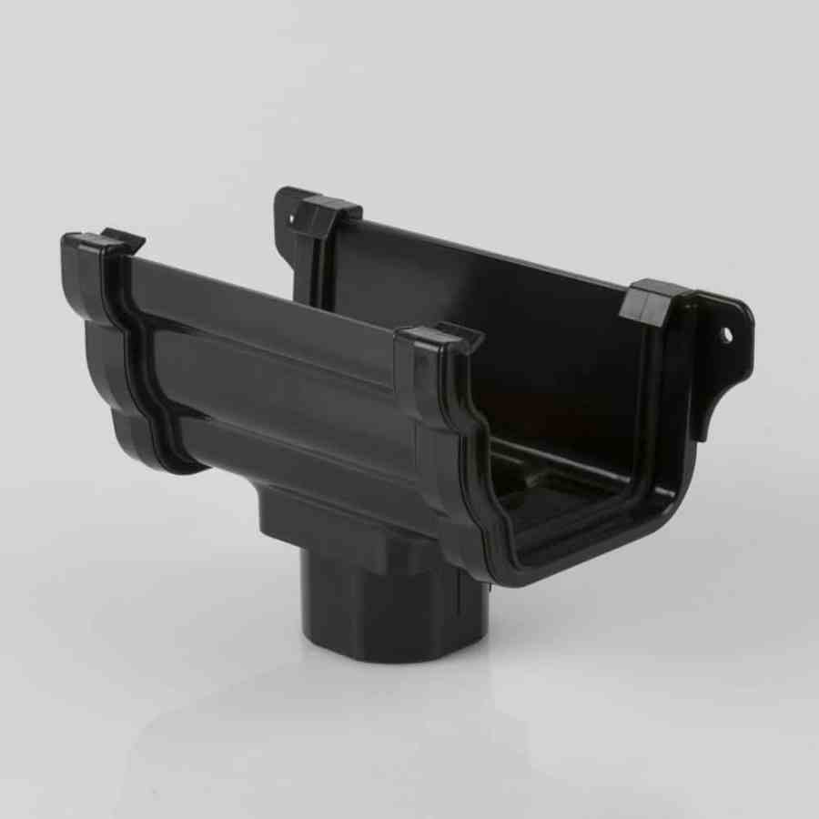 Running Outlet 106mm Ogee Prostyle Black
