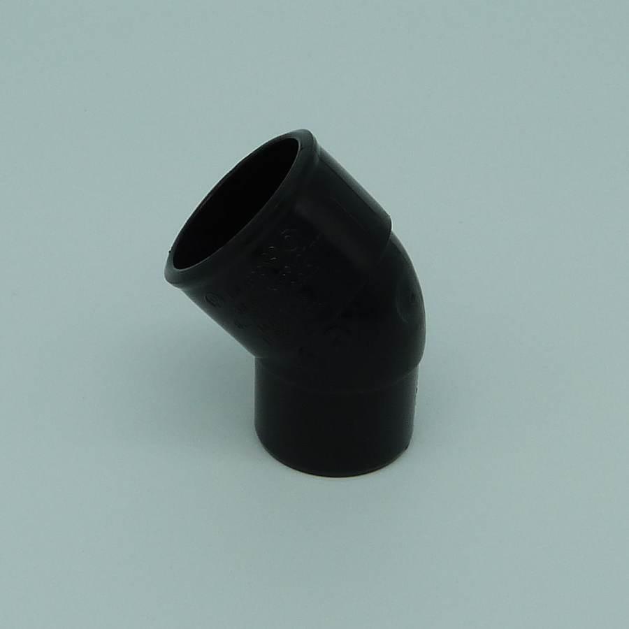 32mm solvent weld 45d street bend black