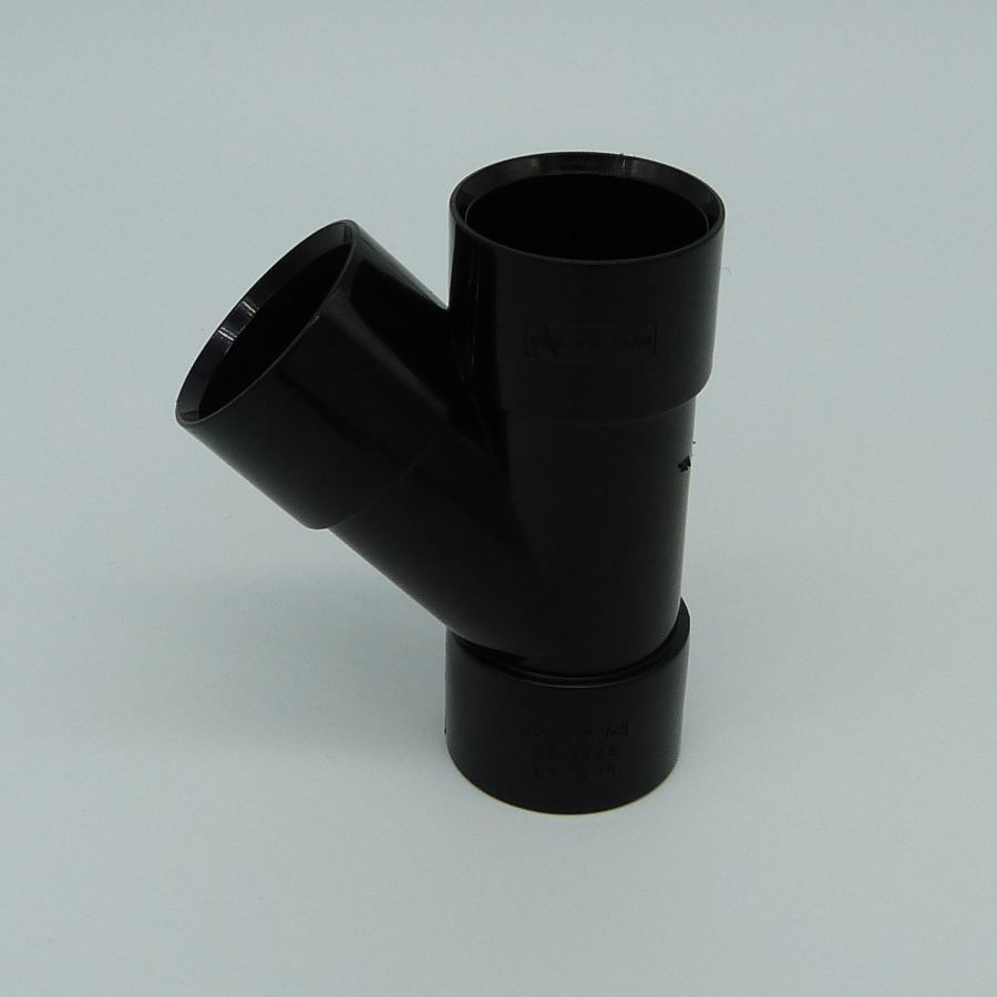 32mm solvent weld 45d y branch black