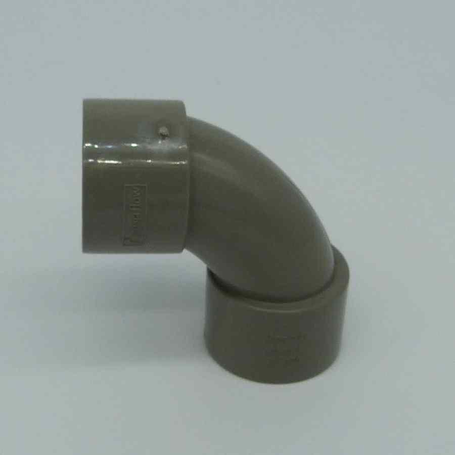 32mm solvent weld 90d swept bend grey