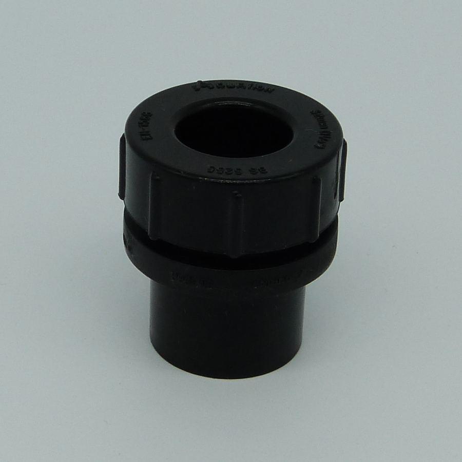 32mm solvent weld screw access cap black