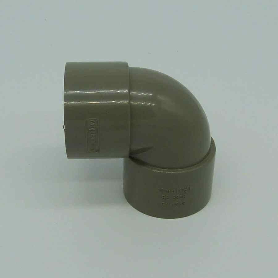 40mm Solvent Weld 90d Knuckle Bend Grey
