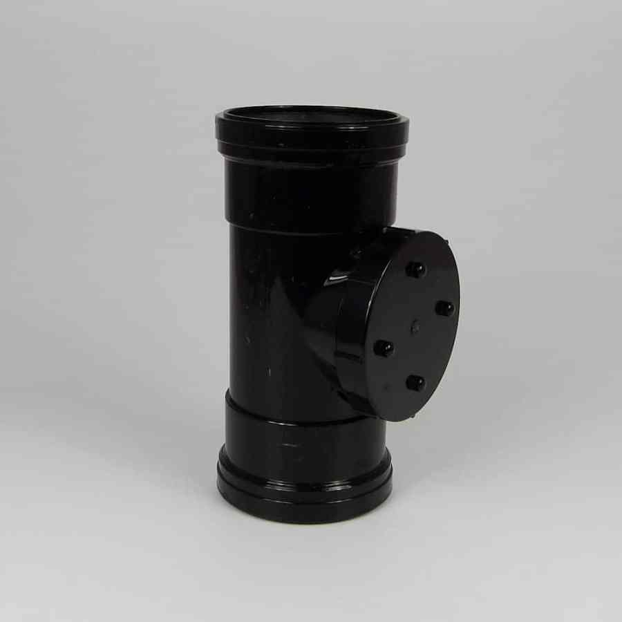 110mm PushFit Soil D/S Access Pipe Black