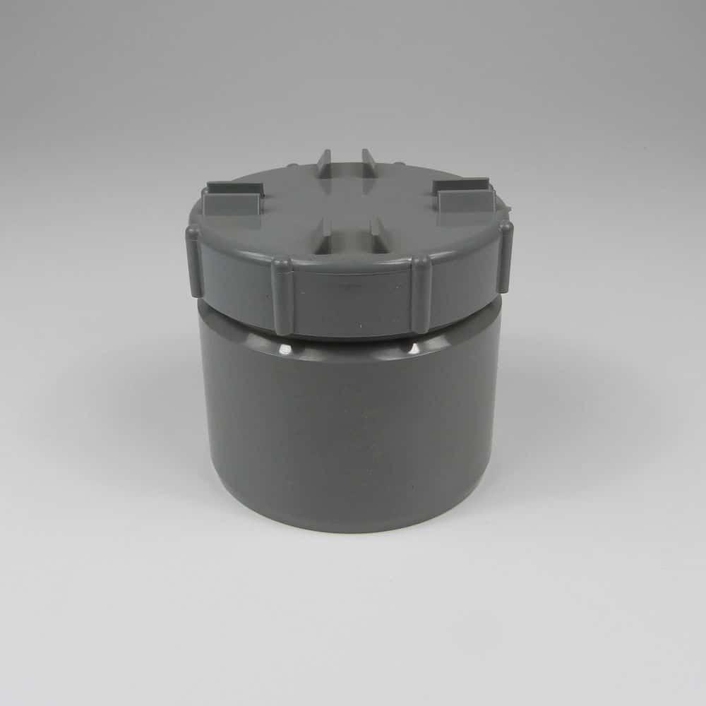 110mm PushFit Soil Access Cap Grey