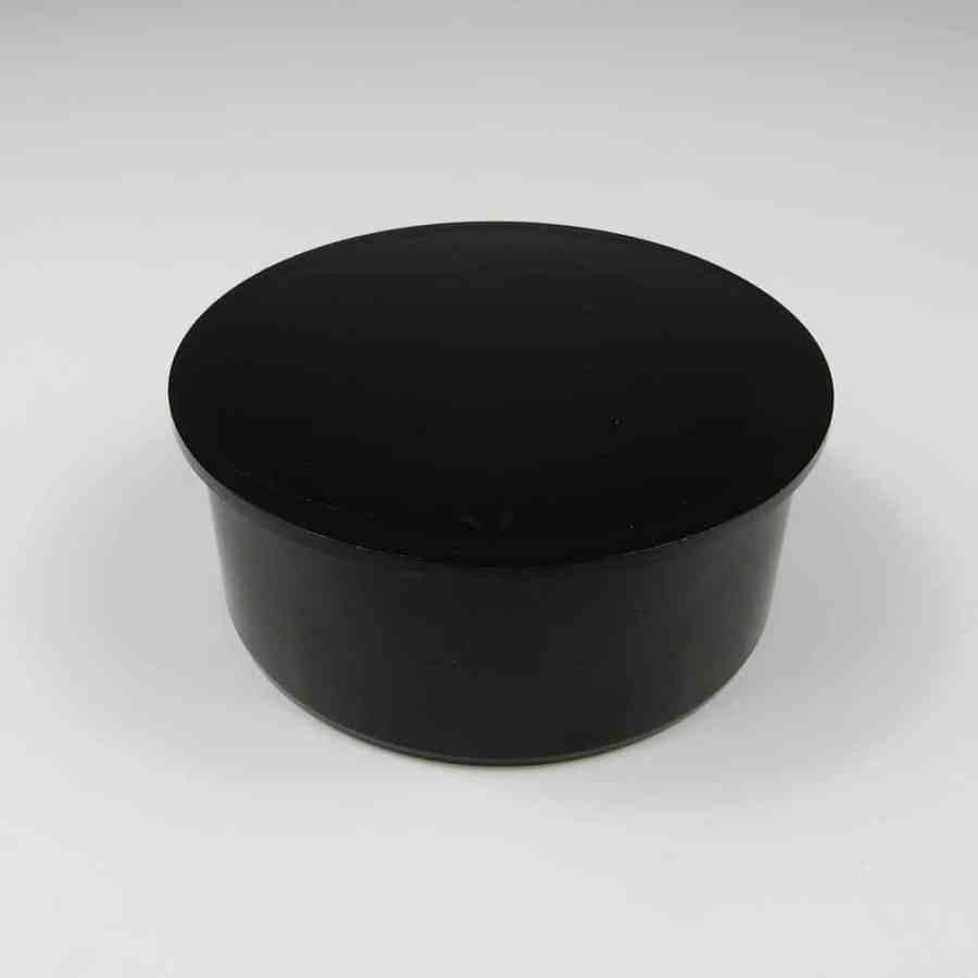 110mm PushFit Soil Socket Plug Black