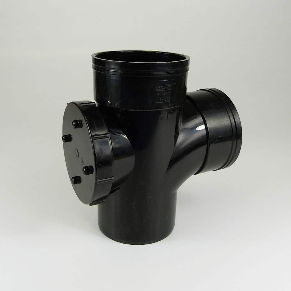 110mm solvent soil 90d double socket access branch