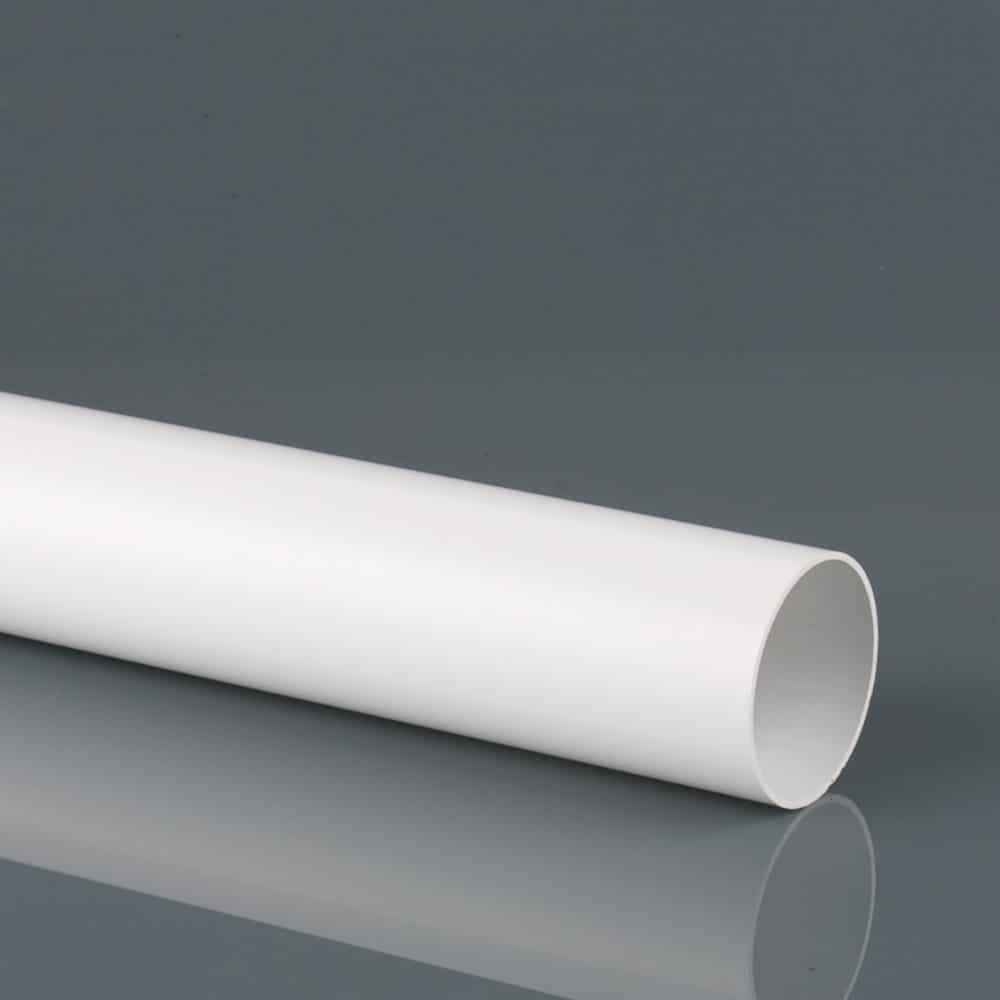 50mm Solvent Weld Waste Pipe 3M White