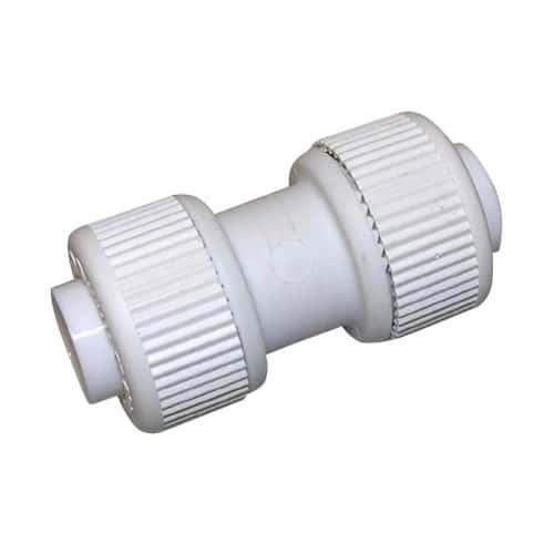 White Plastic Push Fit Plumbing