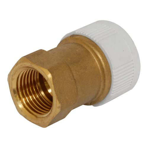 Push Fit Brass White