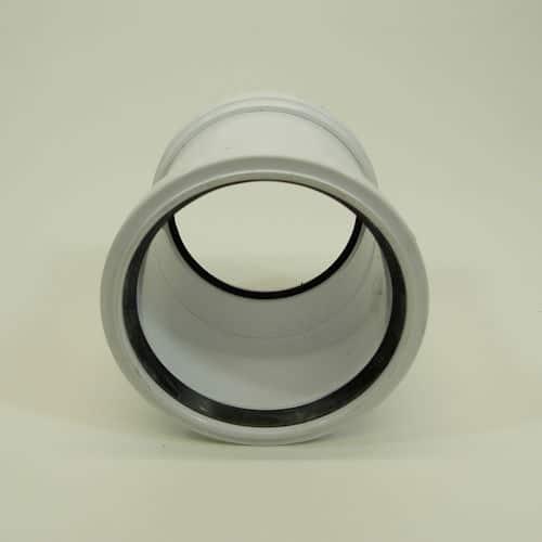 110mm Pushfit Soil Double Socked Slip Coupler White