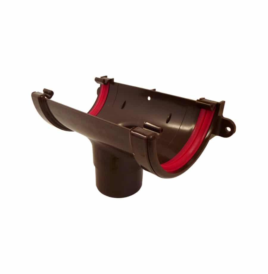 112mm Brown Half Round Guttering