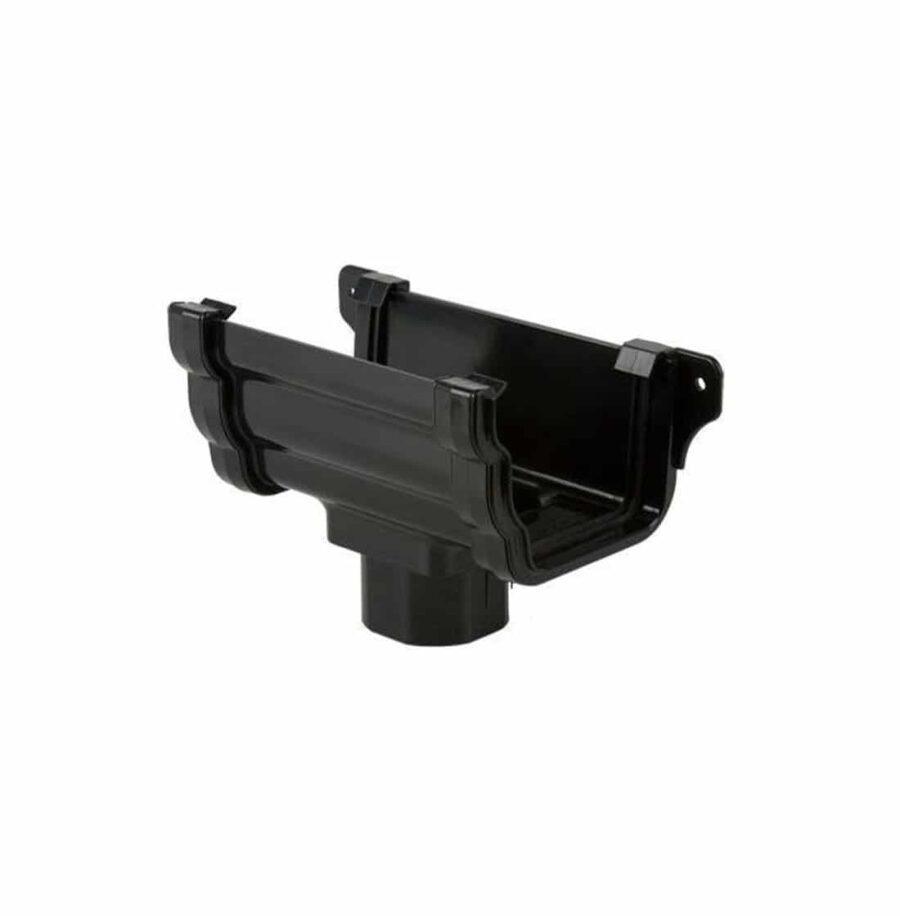 106mm Pro Style Flat Black Black Ogee Guttering