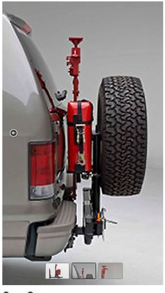 hitch mounted gas can tire holder
