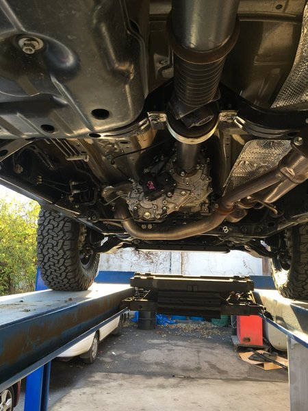 3rd gen exhaust reroute to clear skids