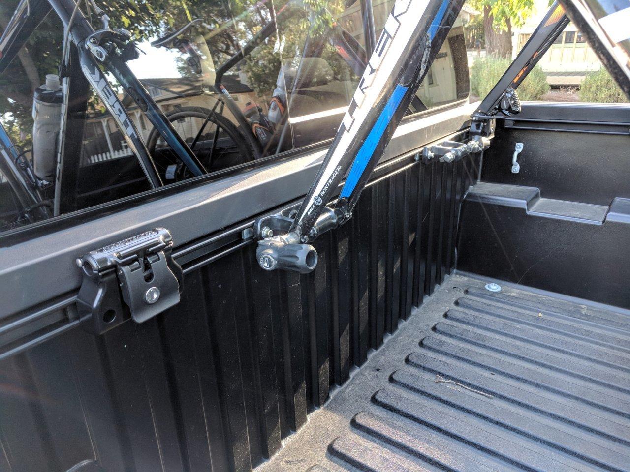 toyota bed rail bike mounts tacoma world