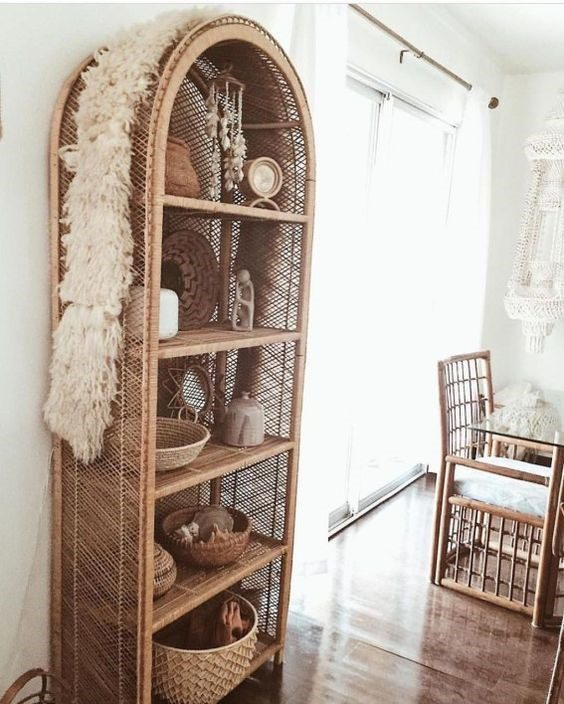 cane shelf and cane chair - the resurgence of cane furniture