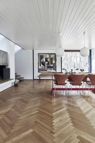 herringbone floor - 4 Steps To sanding your own hardwood floors