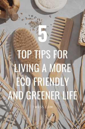 5 top tips for living a more eco friendly and greener life