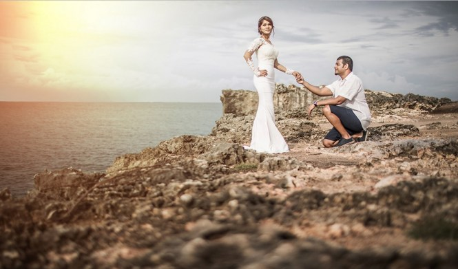 pre-wedding photoshoot locations indonesia - Pandawa Beach - Bali Photoshooting