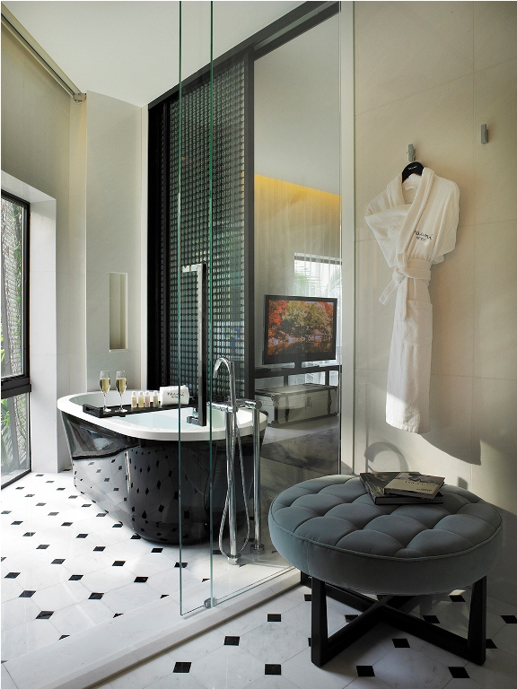 Showers in the Gabrielle Room Naumi Hotel Wedding Solemnisations