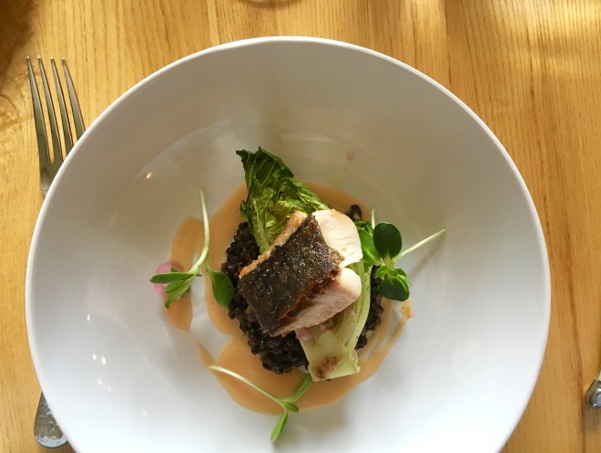 Pan-seared Sablefish at Backyard Farm.