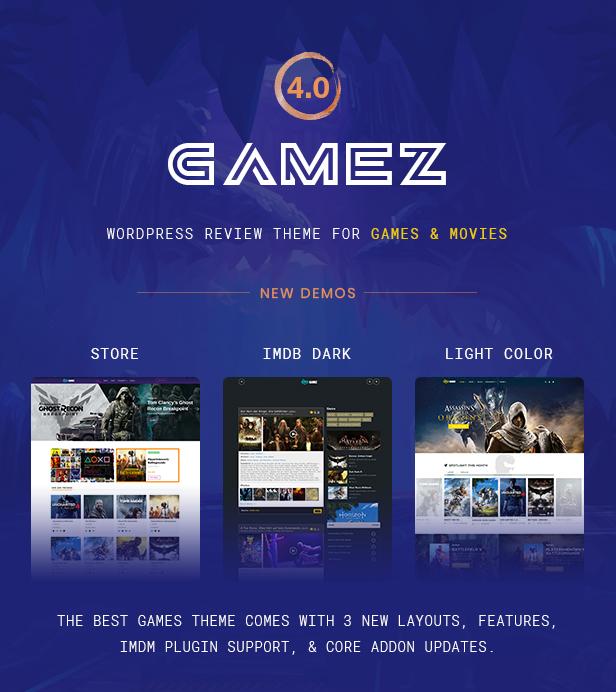 Best WordPress Review Theme For Games, Movies And Music - Gamez - 1
