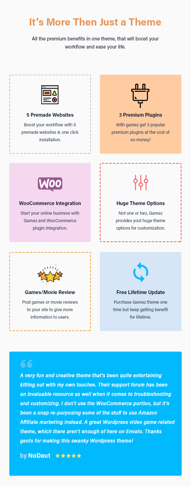 Best WordPress Review Theme For Games, Movies And Music - Gamez - 8