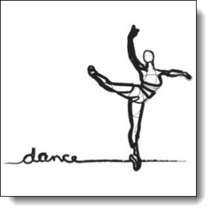 Check out the products with the Ballet Dancer sketch on Zazzle