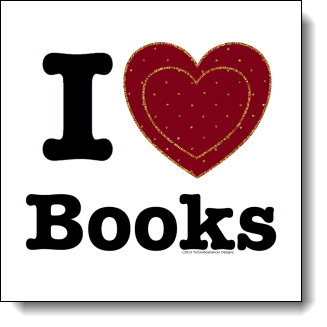 If you love books and you want the world to know it then this design is made for you in mind. This design uses a simple clear Bold font. The Heart features a simulated felt fabric background with gold toned rhinestones creating a heart within a heart. This is a wonderful design for book lovers, teachers, librarians, and anyone who has ever curled up with a good book.