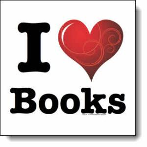 I love Books / I ♥ Books! — Swirly Curlique Heart #3