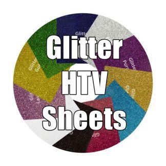 Heat Transfer Vinyl Glitter Sheets