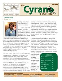 Cyrano Newsletter thumbnail for Spring 2020