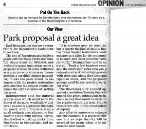 Park Proposal Article