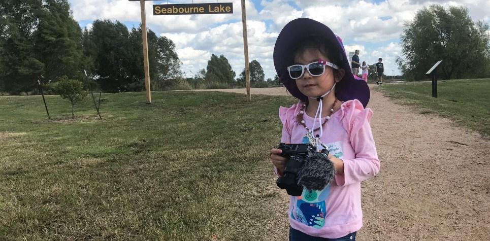 SNF 2018: Young Girl and Seabourne Lake Sign