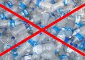 Stock photo showing water bottles